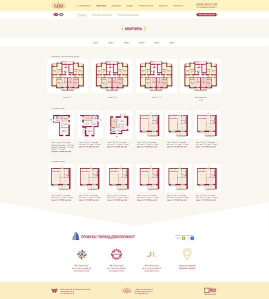 Дизайн, разработка и создание сайта ЖК Казка - 3