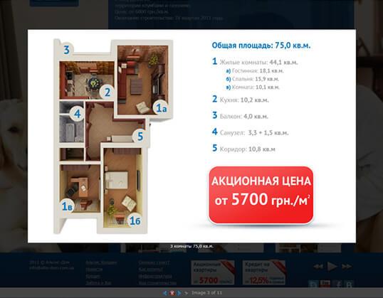 Дизайн, разработка и создание сайта Компания Альтис-Девелопмент - 4