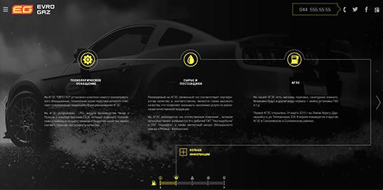 Дизайн, разработка и создание сайта Сеть АГЗС Еврогаз - 1