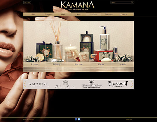 Дизайн, разработка и создание сайта Сеть мультибрендовых бутиков KAMANA - 1
