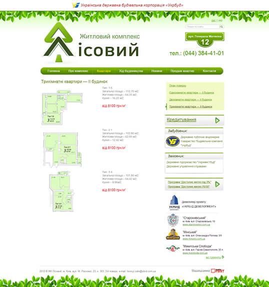 Дизайн, разработка и создание сайта ЖК Лисовый - 2
