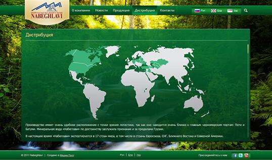 Дизайн, разработка и создание сайта Минеральная вода Набеглави - 2