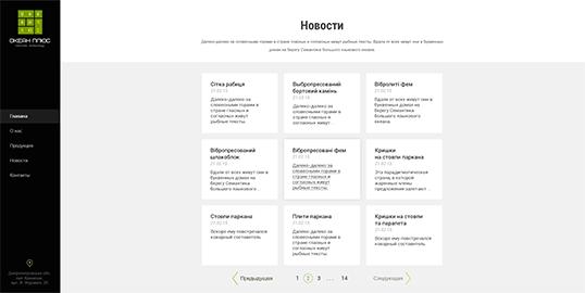 Дизайн, разработка и создание сайта Компания Океан Плюс - 3