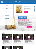 Планшетная версия сайта Pilates4you Journal