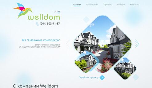 Дизайн, разработка и создание сайта Welldom
