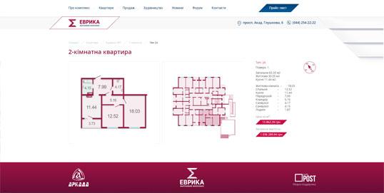 Дизайн, разработка и создание сайта ЖК Еврика - 4