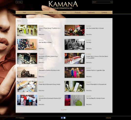 Дизайн, разработка и создание сайта Сеть мультибрендовых бутиков KAMANA - 3
