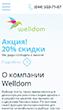 Мобильная версия сайта Welldom