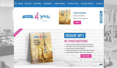 Дизайн, разработка и создание сайта Pilates4you Journal