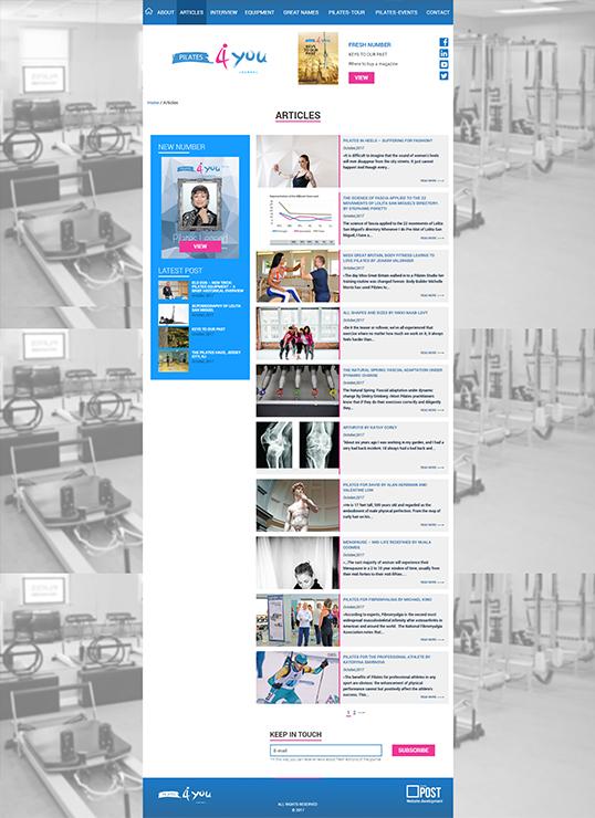 Дизайн, разработка и создание сайта Pilates4you Journal - 2