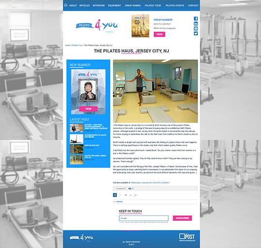 Дизайн, разработка и создание сайта Pilates4you Journal - 3