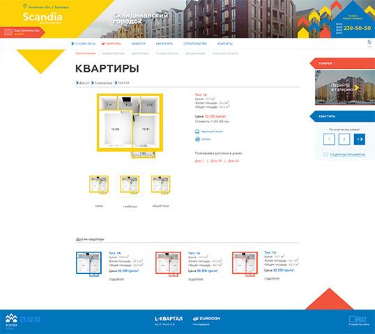 Дизайн, разработка и создание сайта ЖК «Scandia» - 4